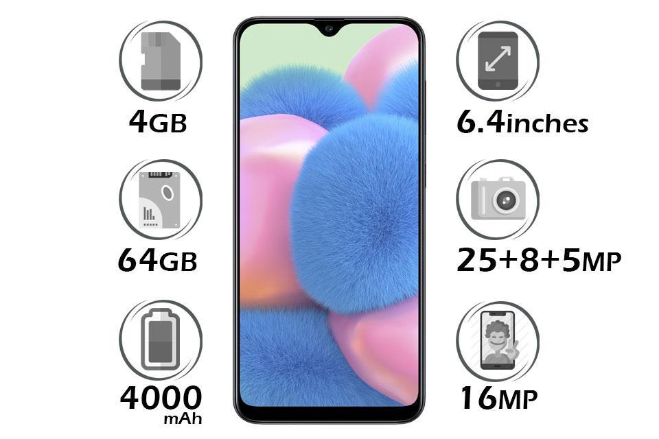 گوشی سامسونگ Galaxy A30s گنجایش 64GB