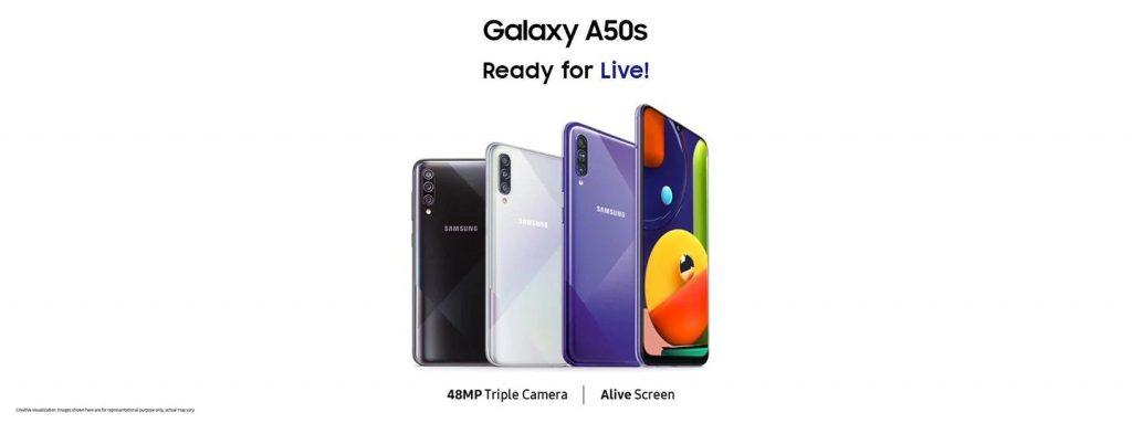 گوشی سامسونگ Galaxy A50s گنجایش 128GB با رم 6 گیگابایت