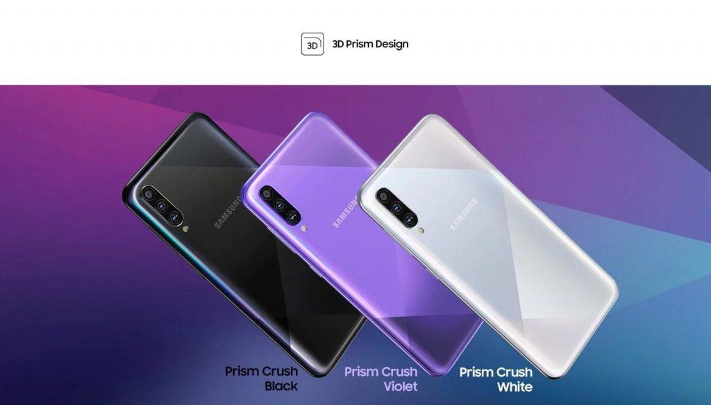 گوشی سامسونگ Galaxy A50s گنجایش 128GB با رم 6 گیگابایت | طراحی سامسونگ گلکسی A50s
