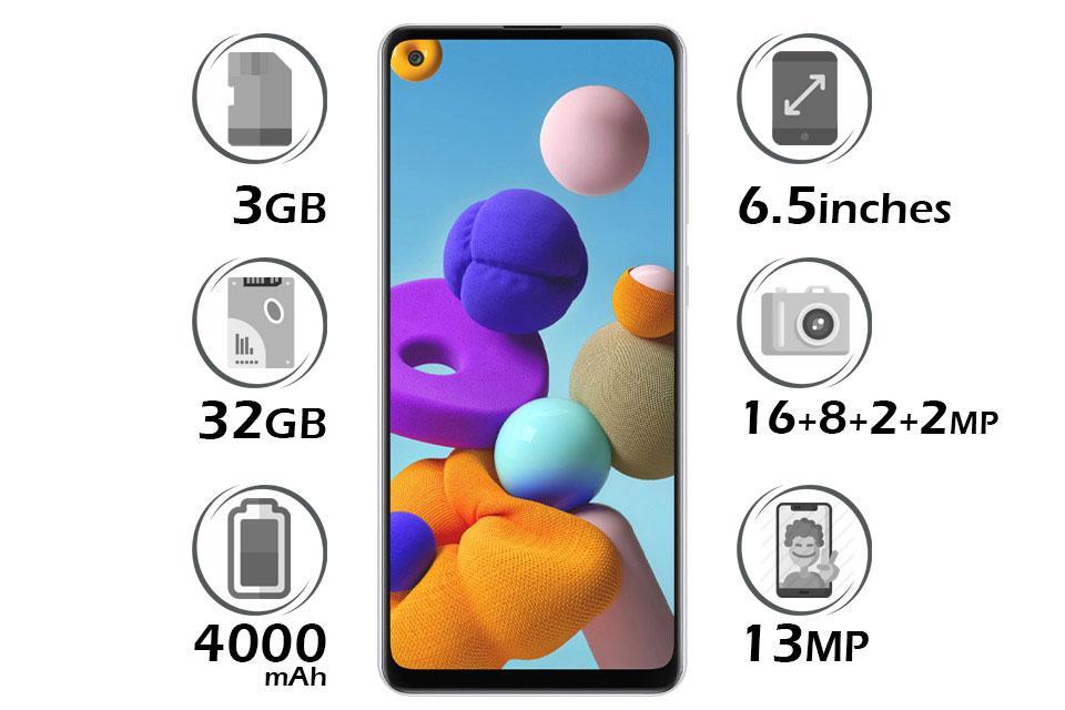 گوشی سامسونگ Galaxy A21 گنجایش 32GB