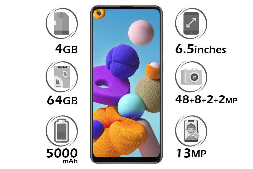 گوشی سامسونگ Galaxy A21s گنجایش 64GB با رم 4GB