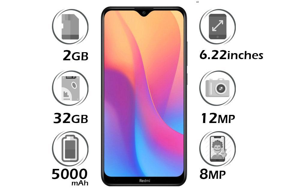 گوشی شیائومی Redmi 8 گنجایش 64GB با 4 گیگابایت رم مشکی