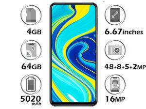 گوشی شیائومی Redmi Note 9S گنجایش 64GB با 4 گیگابایت رم