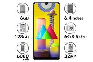 گوشی سامسونگ Galaxy M31 گنجایش 128GB