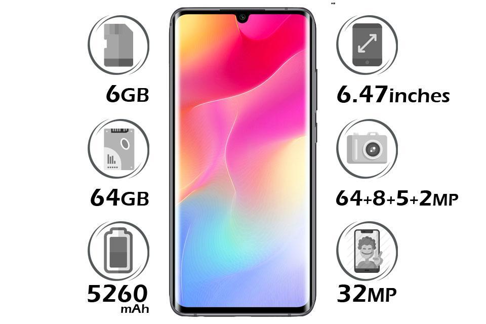 گوشی شیائومی Mi Note 10 Lite گنجایش 64GB با 6 گیگابایت رم