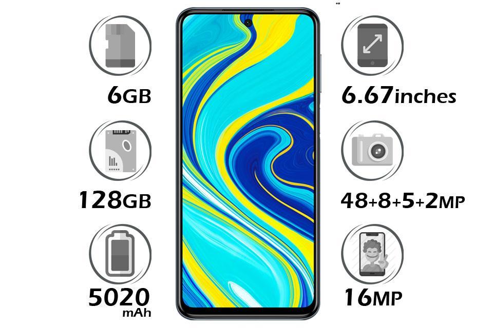 گوشی شیائومی Redmi Note 9S گنجایش 128GB با 6 گیگابایت رم