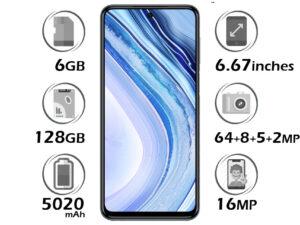 گوشی شیائومی Redmi Note 9 Pro گنجایش 128GB با 6 گیگابایت