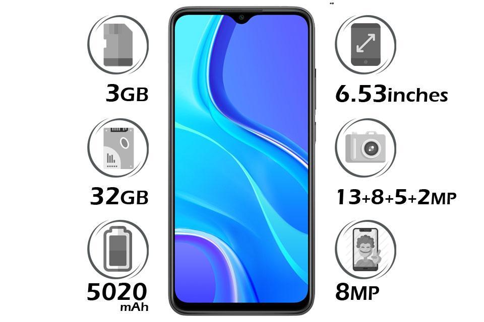 گوشی شیائومی Redmi 9 گنجایش 32GB با 3 گیگابایت رم