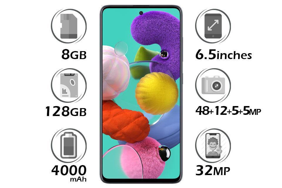 گوشی سامسونگ Galaxy A51 رم 8GB گنجایش 128GB