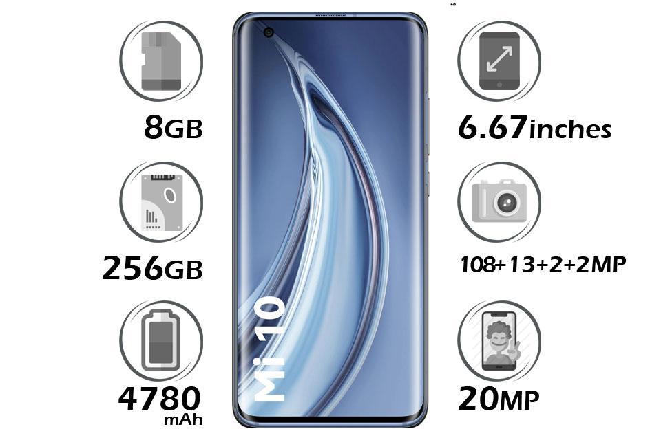 گوشی شیائومی Mi 10 5G گنجایش 256GB رم 8GB