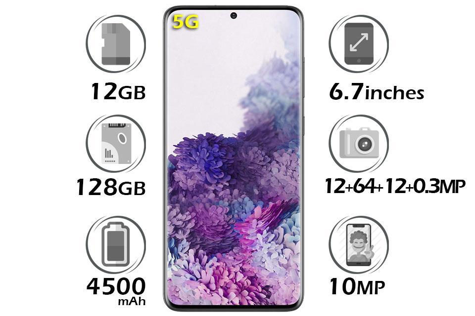گوشی سامسونگ Galaxy S20 Plus 5G گنجایش 128GB