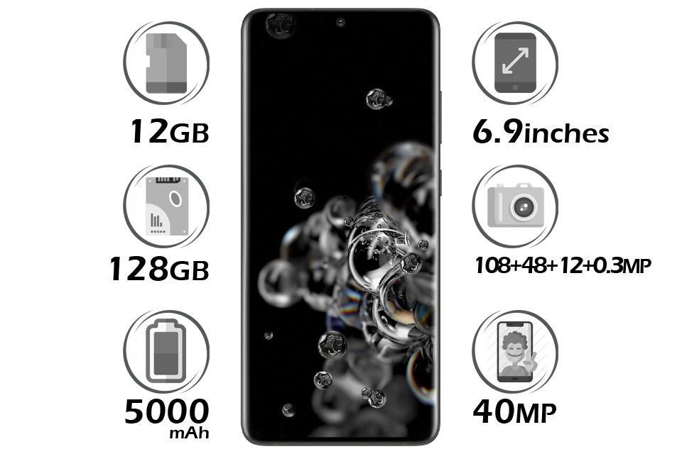 گوشی سامسونگ Galaxy S20 Ultra 4G گنجایش 128GB رم 12GB