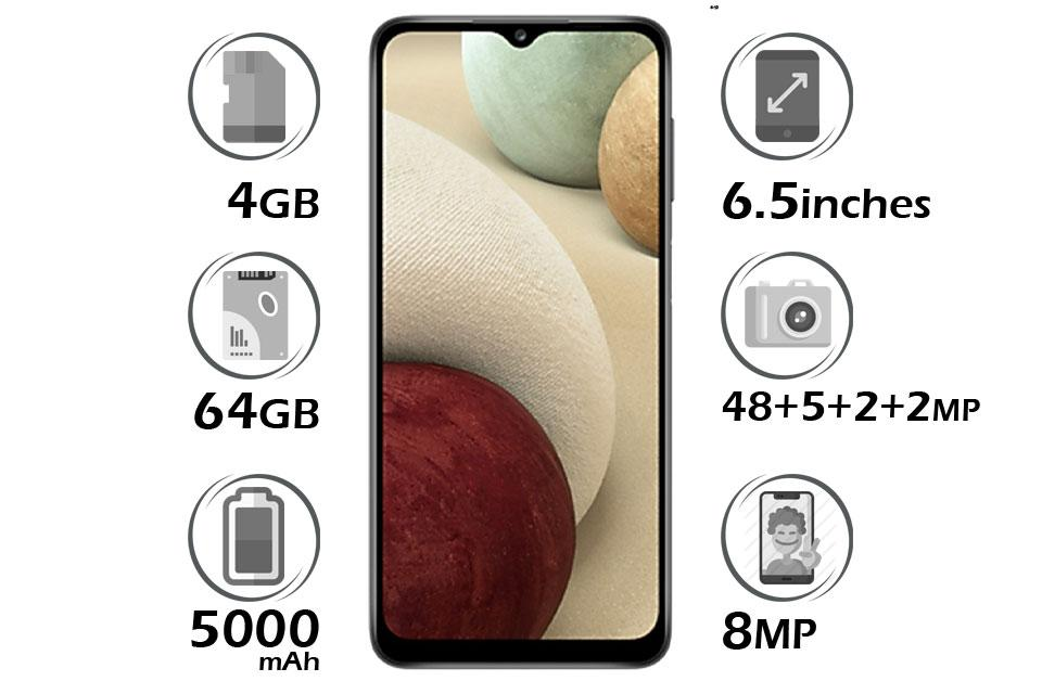 گوشی سامسونگ Galaxy A12 حافظه 64GB رم 4G