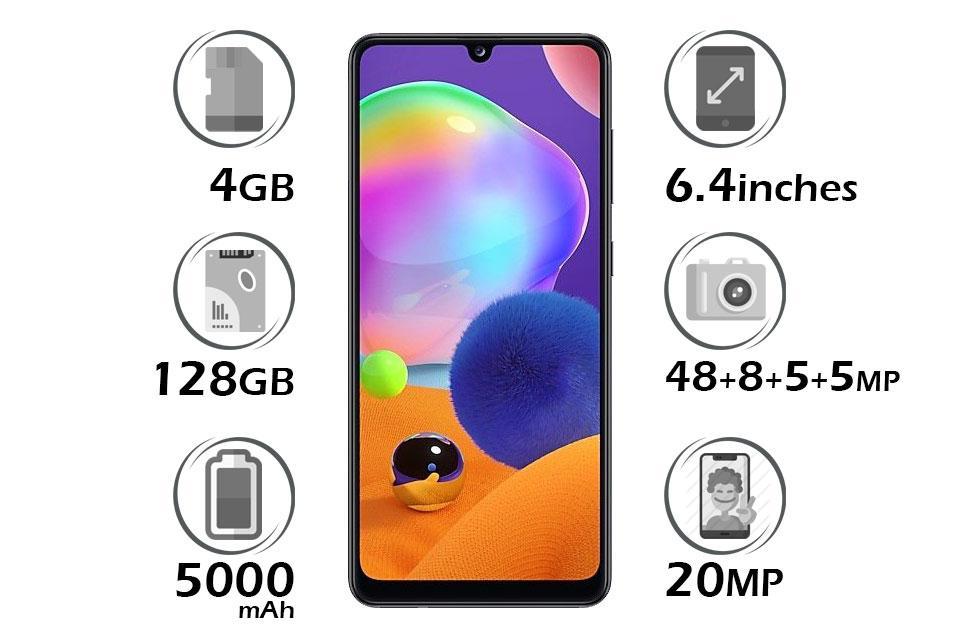 گوشی سامسونگ Galaxy A31 گنجایش 128GB رم 4GB