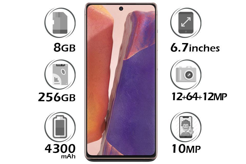 گوشی سامسونگ Galaxy Note20 گنجایش 256GB