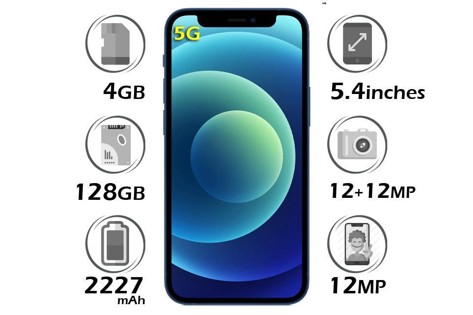 گوشی اپل آیفون 12 مینی حافظه 128GB رم 4GB