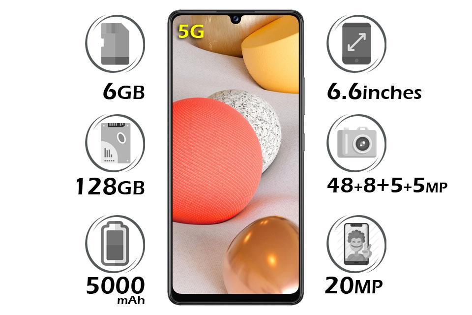 گوشی سامسونگ Galaxy A42 5G گنجایش 128GB رم 6GB