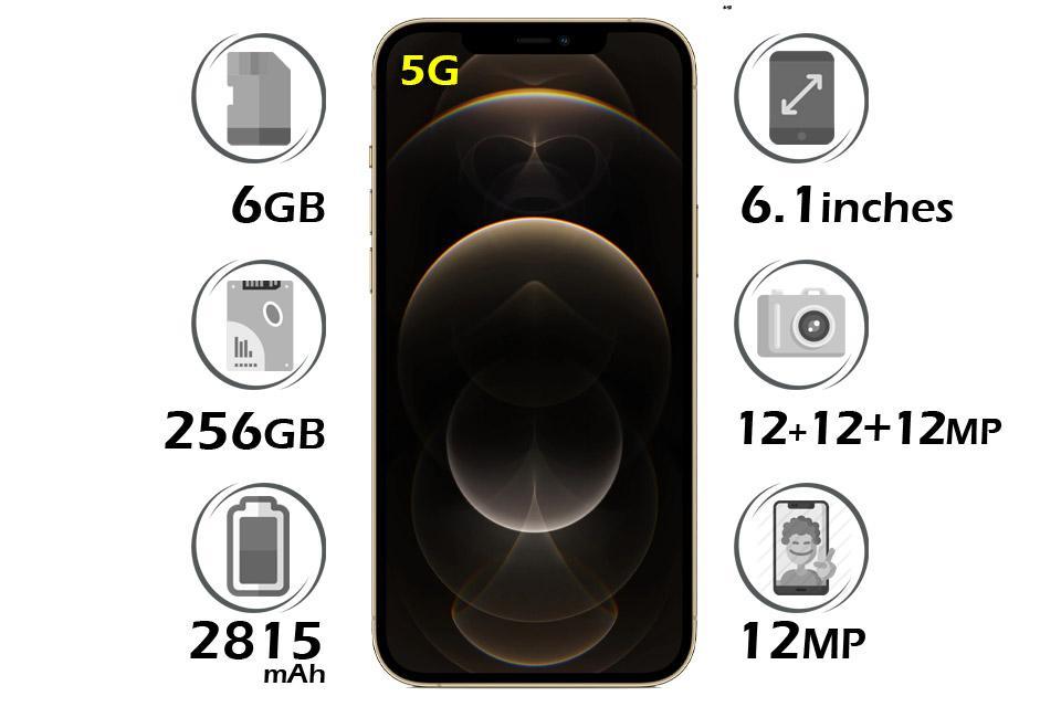 گوشی اپل آیفون 12 پرو حافظه 256 گیگابایت