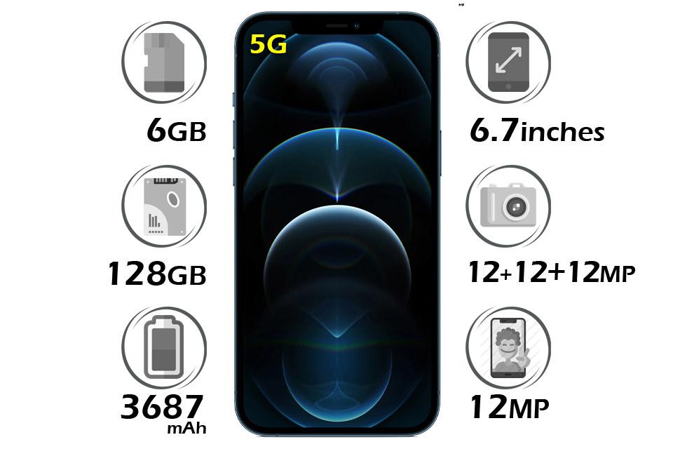گوشی آیفون 12 پرو مکس اپل 128 گیگابایت