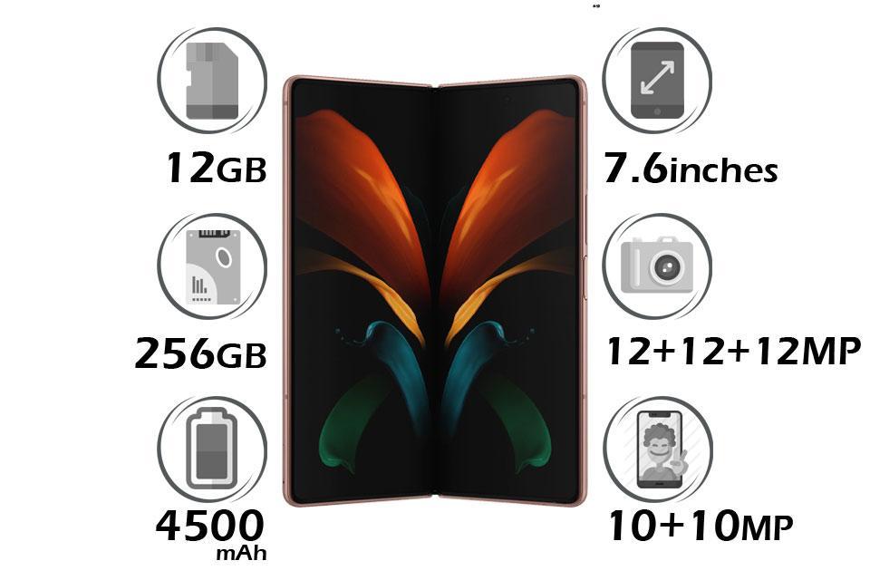 گوشی سامسونگ Galaxy Z Fold2 حافظه 256GB رم 12GB