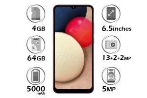 گوشی سامسونگ Galaxy A02s حافظه 64GB رم 4GB