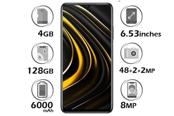 گوشی شیائومی Poco M3 حافظه 128GB با 4 گیگابایت رم