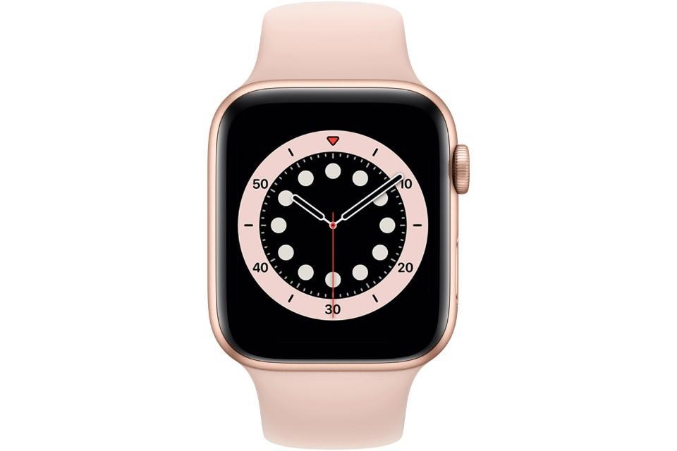 ساعت هوشمند اپل واچ سری ۶ 44mm Gold Aluminum With Pink Sport Band