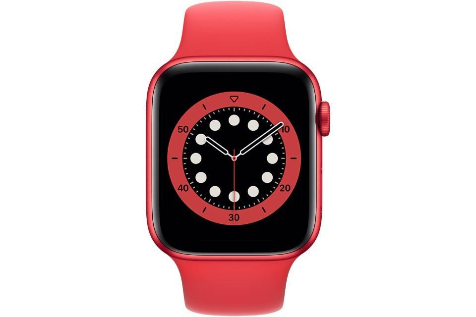 ساعت هوشمند اپل واچ سری ۶ 44mm Red Aluminum With Red Sport Band