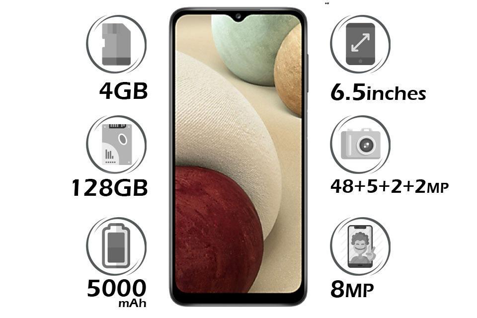 گوشی سامسونگ Galaxy A12 حافظه 128GB رم 4GB