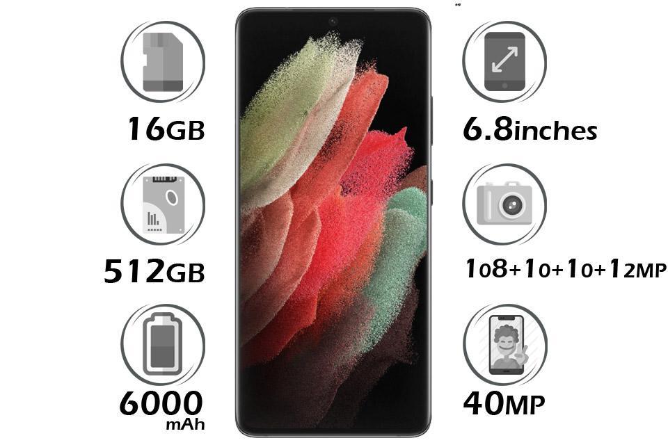 گوشی سامسونگ Galaxy S21 Ultra 5G حافظه 512GB رم 16GB