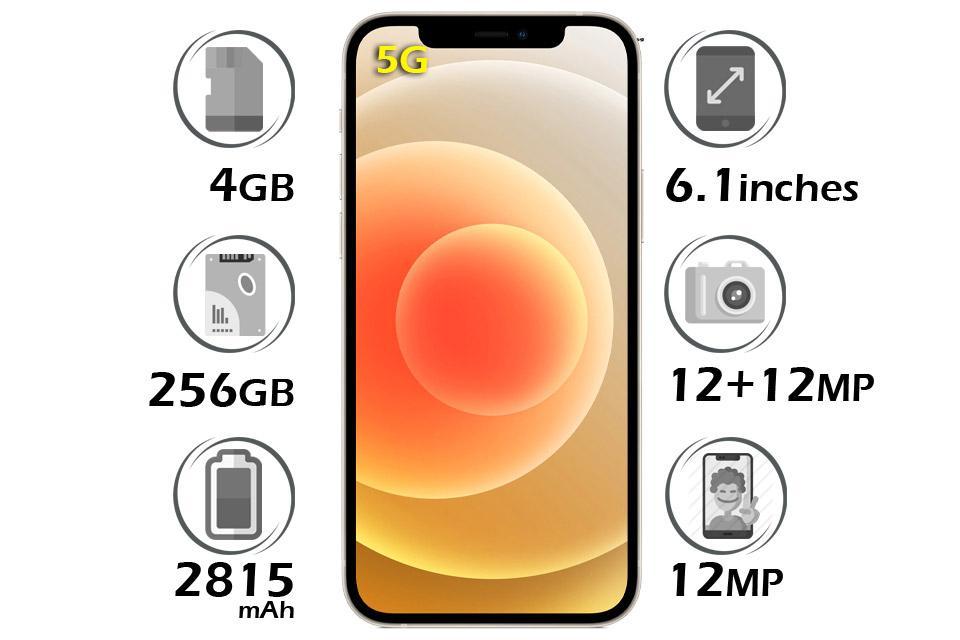 گوشی اپل آیفون 12 حافظه 256 گیگابایت
