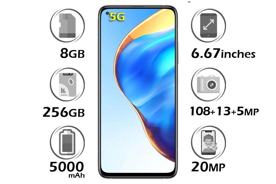 گوشی شیائومی Mi 10T Pro 5G حافظه 256GB رم 8GB