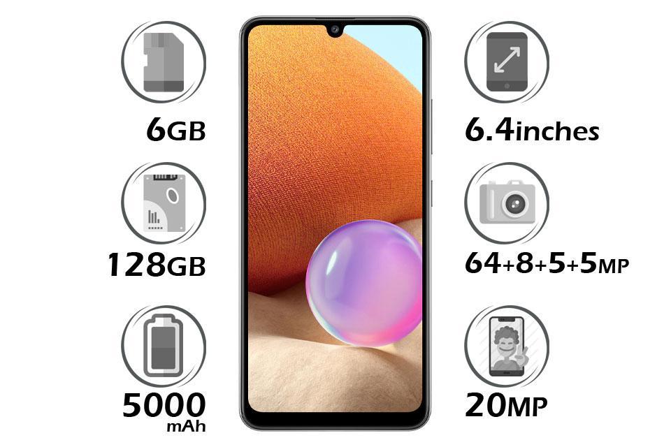 گوشی سامسونگ Galaxy A32 حافظه 128 گیگابایت رم 6 گیگابایت