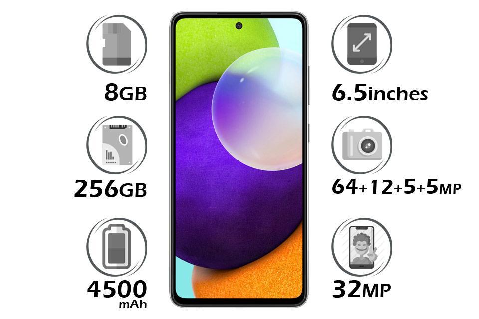 گوشی سامسونگ Galaxy A52 حافظه 256 گیگابایت رم 8 گیگابایت | گلکسی A52 | قیمت A52