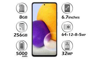 گوشی سامسونگ Galaxy A72 حافظه 256 گیگابایت رم 8 گیگابایت