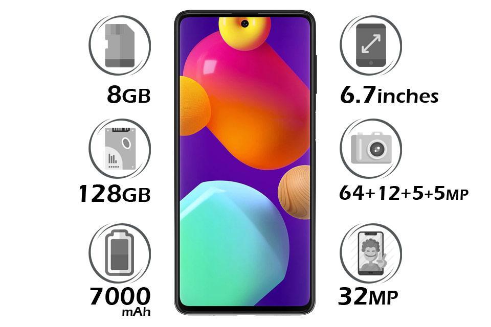 گوشی سامسونگ Galaxy M62 حافظه 128 گیگابایت رم 8 گیگابایت آبی