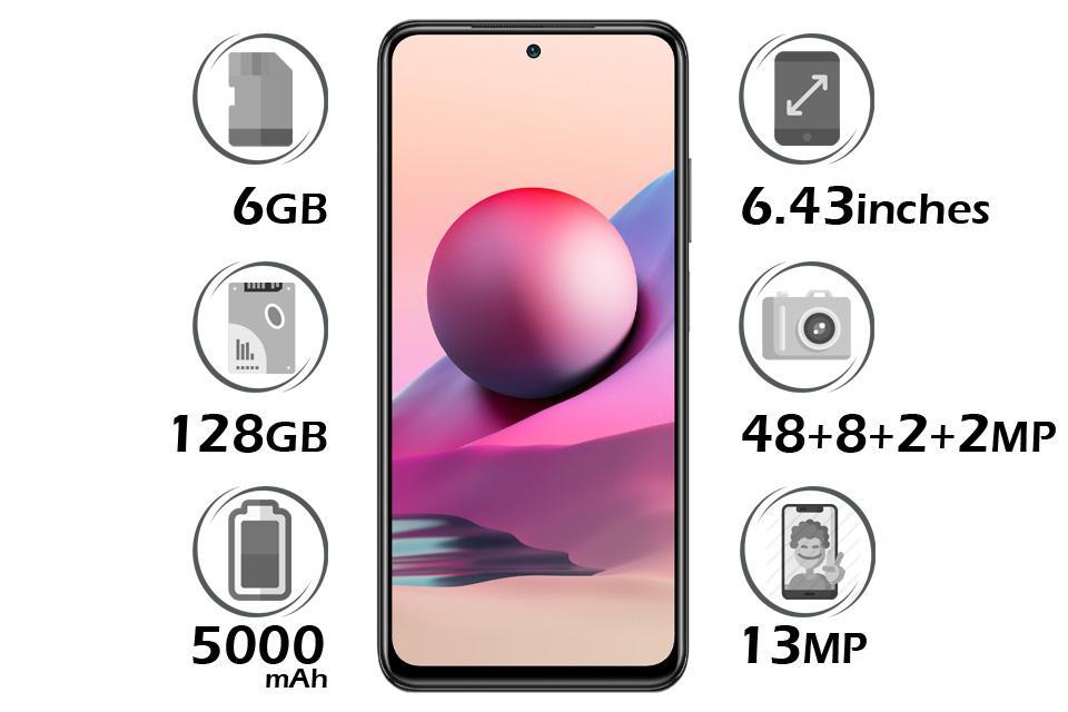 گوشی شیائومی Redmi Note 10 حافظه 128 گیگابایت با 6 گیگابایت رم