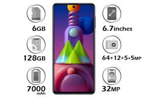 گوشی سامسونگ Galaxy M51 حافظه 128 گیگابایت رم 6 گیگابایت