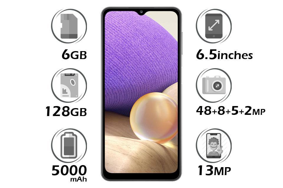 گوشی سامسونگ Galaxy A32 5G حافظه 128 گیگابایت رم 6 گیگابایت