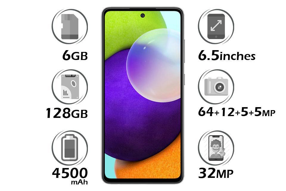 گوشی سامسونگ Galaxy A52 حافظه 128 گیگابایت رم 6 گیگابایت | Samsung Galaxy A52 128GB RAM 6GB | گلکسی A52 | قیمت A52