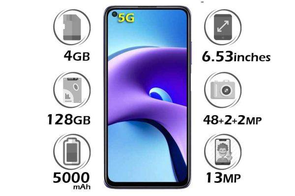 گوشی شیائومی Redmi Note 9T 5G حافظه 128GB رم 6GB