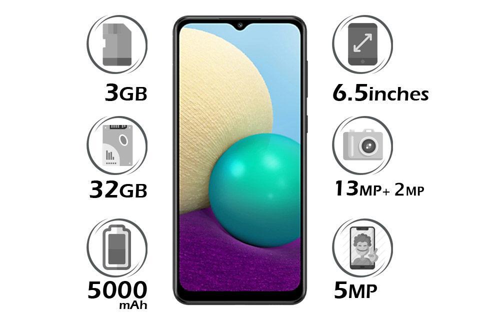 گوشی سامسونگ گلکسی A02 حافظه 32GB رم 3GB