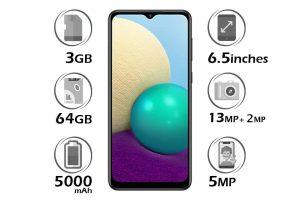 گوشی سامسونگ گلکسی A02 حافظه 64GB رم 3GB