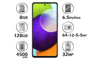 گوشی سامسونگ Galaxy A52 حافظه 128GB رم 8GB
