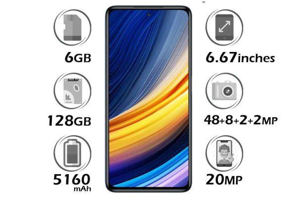 گوشی شیائومی پوکو X3 پرو حافظه 128 گیگابایت رم 6 گیگابایت
