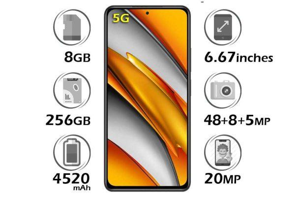 گوشی شیائومی Poco F3 5G حافظه 256 گیگابایت رم 8 گیگابایت