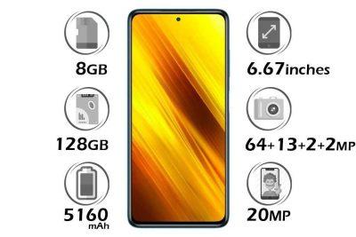 گوشی شیائومی Poco X3 NFC حافظه 128 گیگابایت رم 8 گیگابایت