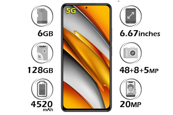 گوشی شیائومی پوکو F3 5G حافظه 128 گیگابایت رم 6 گیگابایت